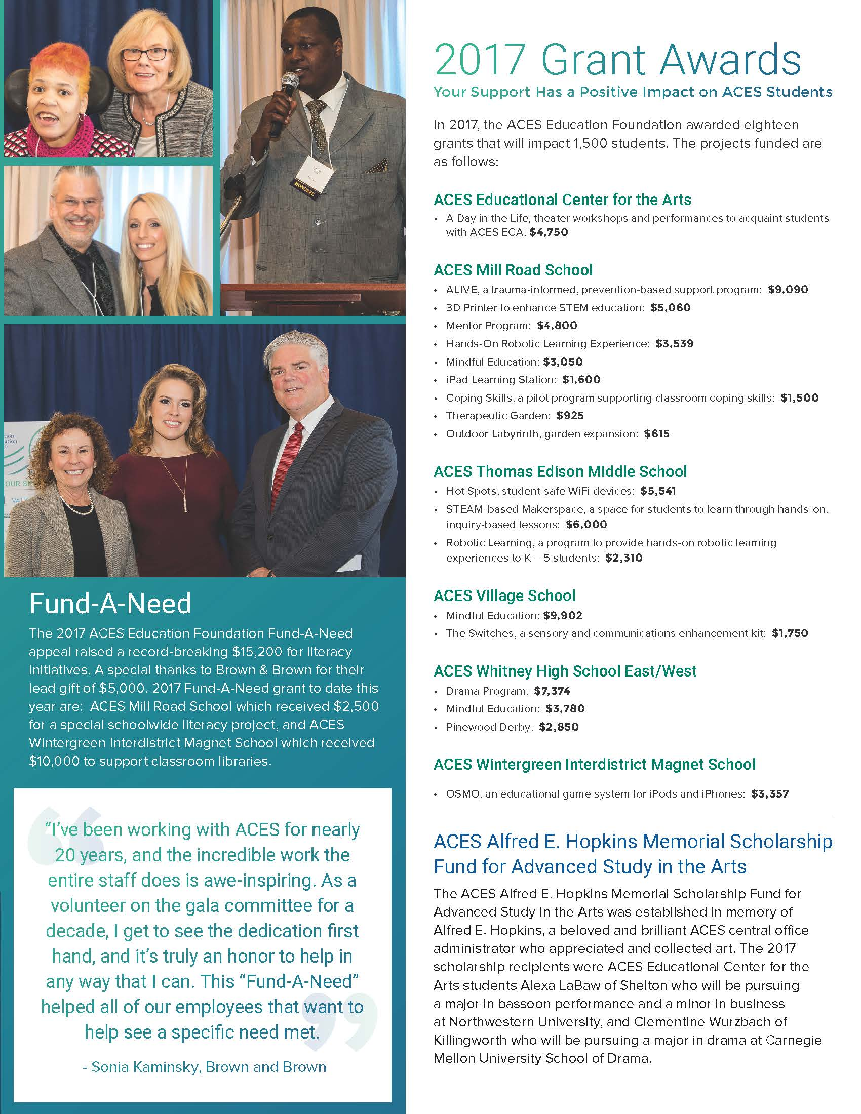 ACES Education Foundation 2016-17 Annual Report Page 3