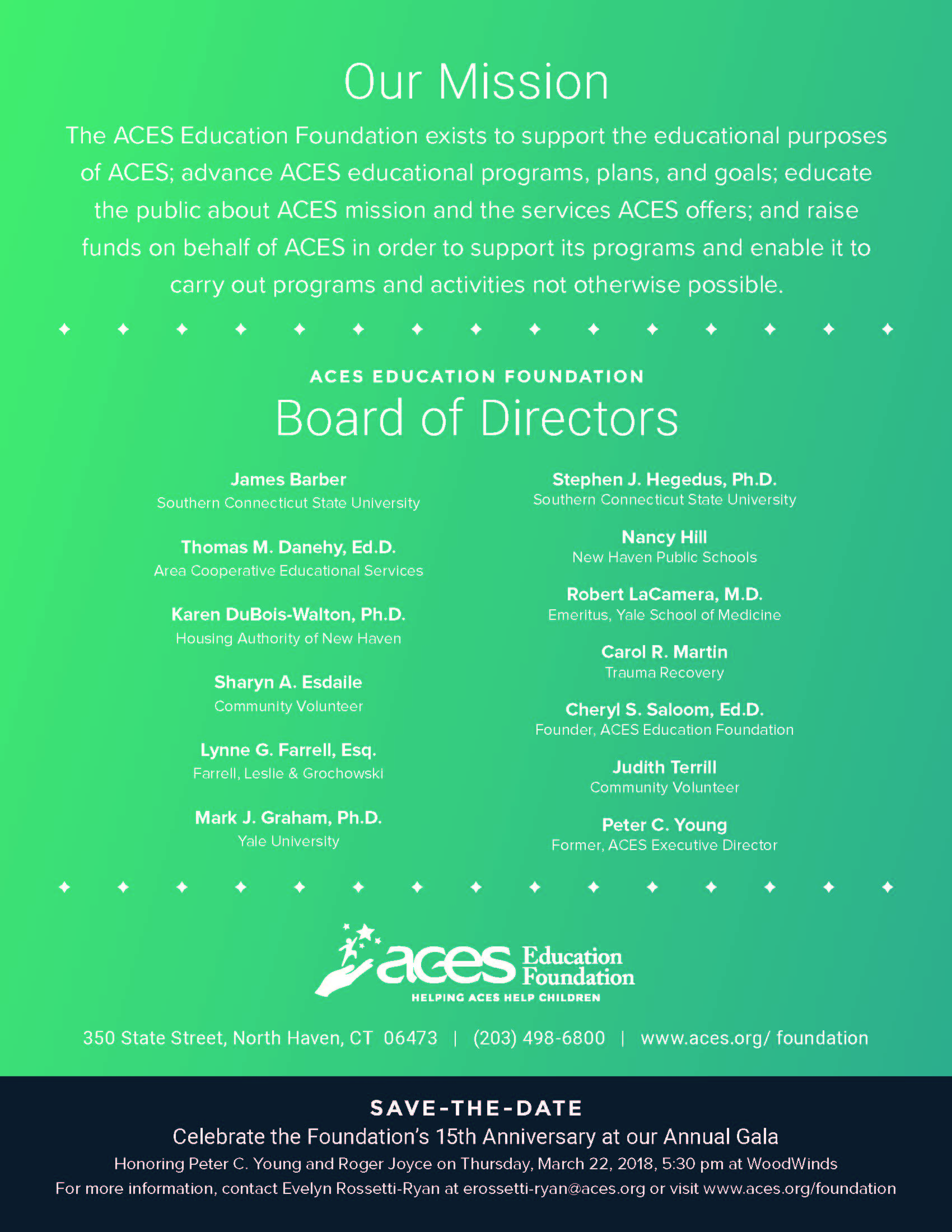 ACES Education Foundation 2016-17 Annual Report Page 4