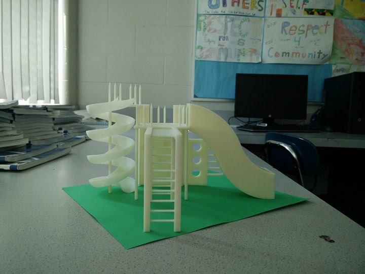 Playground designed using 3D printer