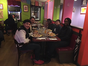 ACES Whitney High North students at Mezcal Mexican restaurant