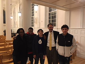 ACES Whitney High North students at Yale University's Marquand Chapel