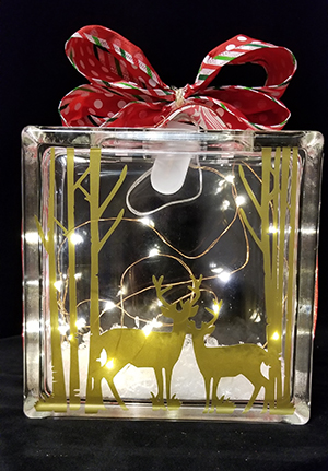 Glass box design Reindeer